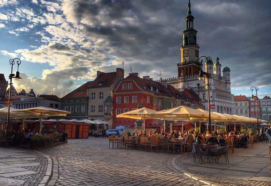 Rynek w Poznaniu.